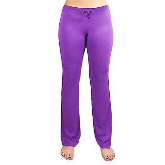 XX-Duży Purple Relaxed Fit Spodnie do jogi