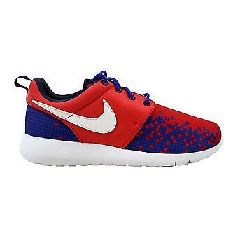 Nike Roshe One Print Lihgt Crimson/White-RCR Blue-Obsidian 677782-601 Grade-School