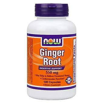 Now Foods Ginger Root 550 mg 100 Capsule