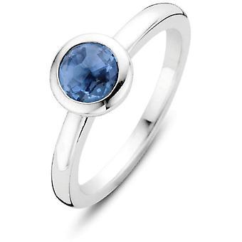 Ti Sento ring 12103DB-zilveren ring Serti ronde blauwe vrouwen