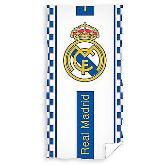 Real Madrid FC Crest Velour Beach Towel