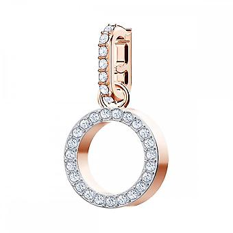 Swarovski Remix Rose Gold Tone Plated & White Crystal Letter O Charm
