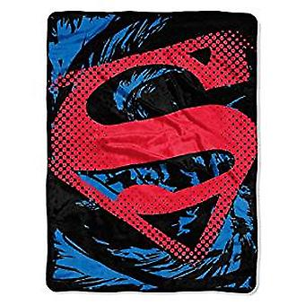 Micro Raschel Throws - DC Comic - Superman Ripped Shield Fleece 285781