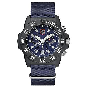 Luninox Navy SEAL Chronograph 3580 Series Blue Canvas Strap Men's Watch XS.3583.ND