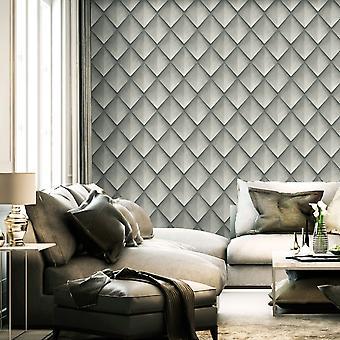Callisto Diamond Geo Wallpaper Silver Belgravia 6004