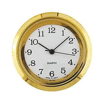 Clock movement quartz mini insertion head Ø35mm gold arabic
