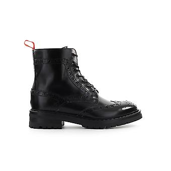 BARRACUDA BLACK LEATHER COMBAT BOOT