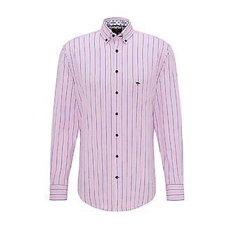 Fynch-Hatton Fynch-hatton Long Sleeved Shirt Rose Blue
