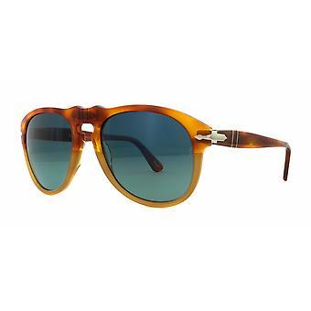 Persol PO0649 1025/S3 Ljus Havanna/Polariserade blå gradientsolglasögon
