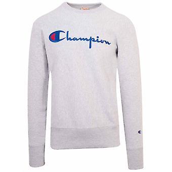 Champion Champion Reverse Weave Grey Big Script Sweatshirt