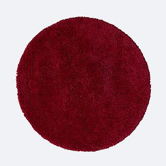 Brillante Sparks Circle Shaggy Rugs In Red