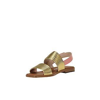 Alberto Gozzi Ezgl249015 Women's Gold Leather Sandals
