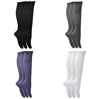 Floso dívky dlouhé bavlněné ponožky (3 páry)