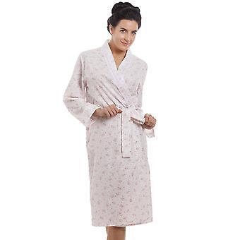 Camille signore rosa abito di preparazione in maglia di cotone Jersey con stampa floreale