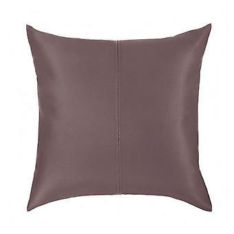Changement de Sofas Brown Soft Faux Leather 18-quot; (45cm) Ready Filled Hollowfibre Sofa Scatter Cushion