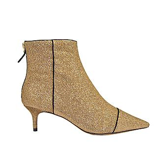 Alexandre Birman Kittiebootnewfabr Women's Gold Metallic Fibers Ankle Boots