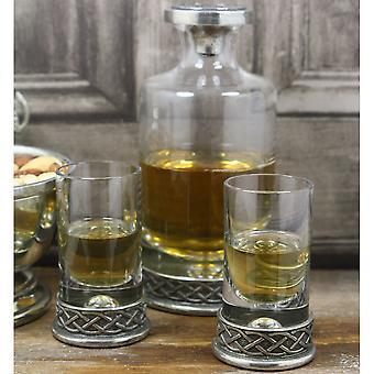 Keltisk Mini karaffel satt 180ml med 2 matchende Shot glass gave eske