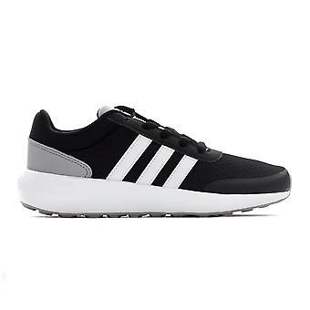 adidas NEO Cloudfoam Race Junior Kids Fashion Trainer Shoe Black / Grey