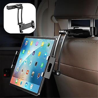 Rock metal clip adjustable arm 360 degree rotation car headrest mount holder for mobile phone tablet