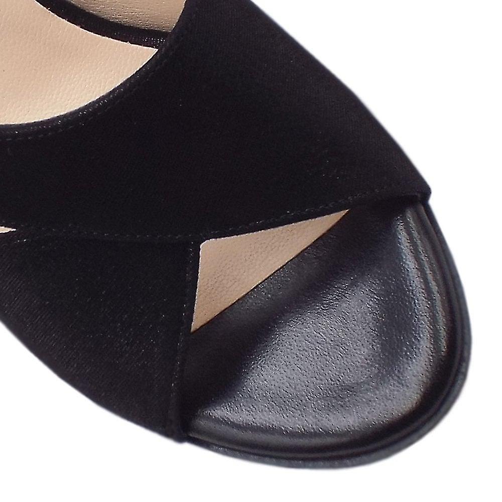 Peter Kaiser Oprah Dressy Shimmering Suede Slingback In Black Luz