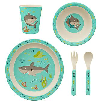 Sass & Belle Shelby The Shark Bamboo Tableware Set