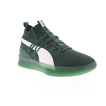 Puma Clyde Court GW  Mens Green Canvas Lace Up Athletic Basketball Shoes