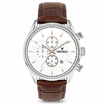 Vincero Watches Whi-sil-s08 The Chrono S Silver & Rose Gold Men's Watch