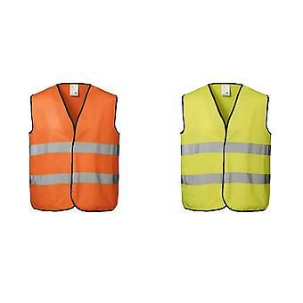 ID unisexe Salut visibilité Fluorescent lâches travailleur Vest