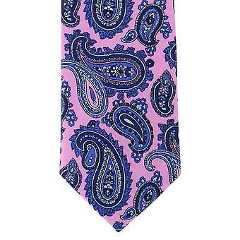 Michelsons London Classic drukowane Paisley Jedwabny krawat - różowy
