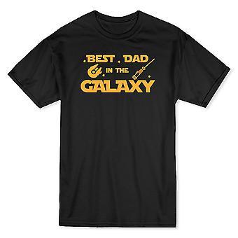 Meilleur papa dans la galaxie Cool Star père T-shirt homme jour