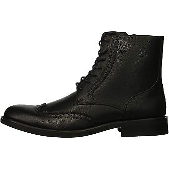 Unlisted by Kenneth Cole Mens Buzzer Boot Leather Almond Toe Ankle Fashion Bo...