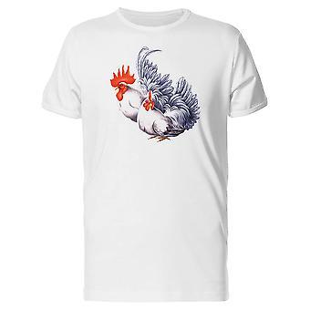 Weiße Henne und Hahn T-Shirt Herren-Bild von Shutterstock