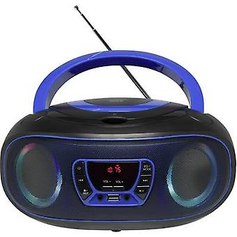 Denver TCL-212BT Radio CD-spiller FM AUX, CD, USB, Bluetooth Mood belysning Blå