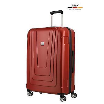 TITAN X-Ray Trolley L, 4 pyörää, 77 cm, 102 L, punainen