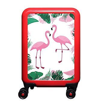 myTrolley Flamingos S, 4 rolls, 55 cm, 32 L, red