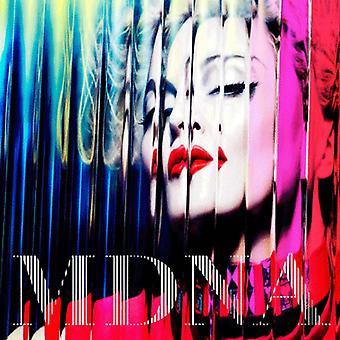 Madonna Fridge Magnet MDNA Logo Official New Black 7cm X 7cm