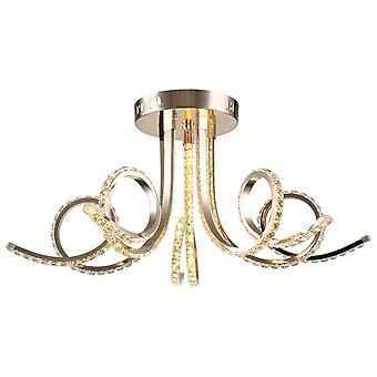 Ashley Ceiling Lamp Color Gold métal, Cristal, L64xP64xA34 cm
