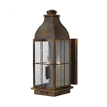Bingham Wall Lamp, Brass And Glass, Large