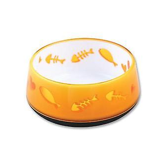 300 Ml Orange Love Cat Bowl Kitten Pet Food Water Feeding Anti Slip