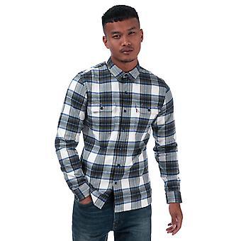 Men's Levis Jackson Worker Shirt in Blauw