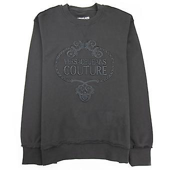 Versace Jeans Couture Felpa Sweat Embossed Logo Black