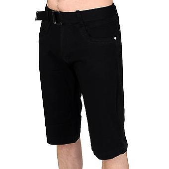 Hombre Chino Capri Bermudas Cargo shorts dobladillo chaqueta con cinturón
