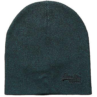 Superdry Mens Orange Label Turn Up Logo Beanie Hat