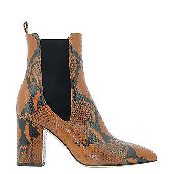 Paris Texas Px125xpn01ruggine Women's Brown Leather Ankle Boots