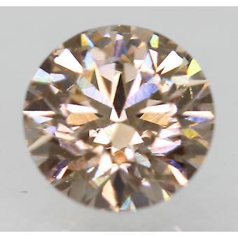 Cert 0.73 Carat Fancy Brown VVS1 Round Brilliant Natural Diamond 5.76mm EX CUT