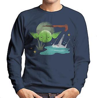 Star Wars Yoda Cartoon Sketch Art Men's Sweatshirt
