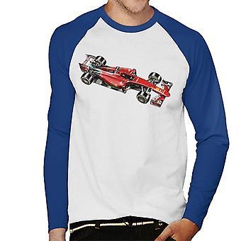 モータースポーツ イメージ フェラーリ SF15 メン&アポス;s 野球ロングスリーブTシャツ
