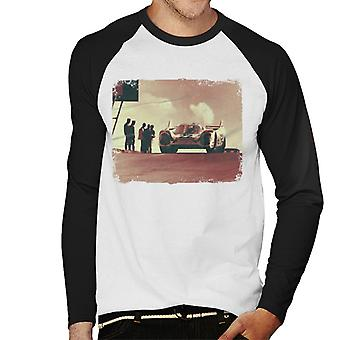 Motorsport Images Helmut Marko Le Mans 1971 Porsche 917k Men's Baseball Long Sleeved T-Shirt
