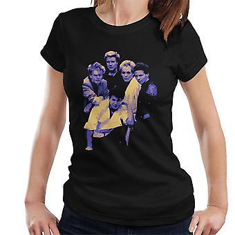 TV kertaa Duran Duran yhtye muotokuva sininen 1983 naisten t-paita