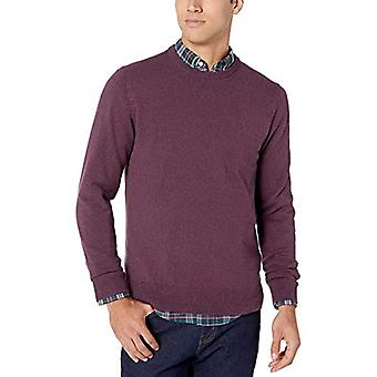 Essentials Men's Crewneck Sweater Sweater, -Burgundy Space-Dye, Large